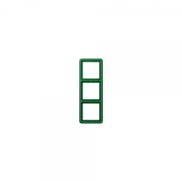 Jung CD583WUGN Abdeckrahmen 3fach bruchsicher grün