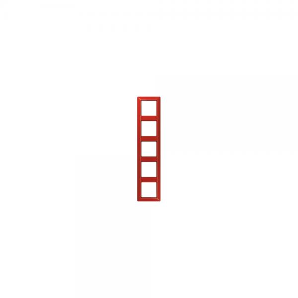 Jung AS585BFRT Abdeckrahmen 5fach bruchsicher rot hochglänzend
