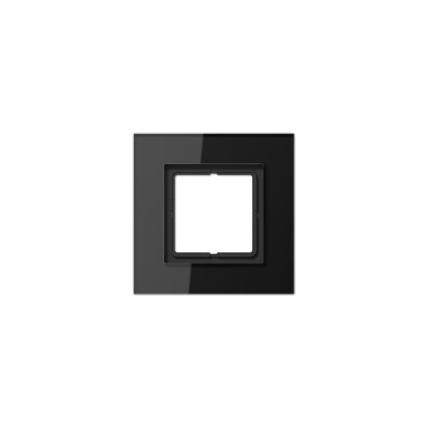 Jung LSP981GLSW Abdeckrahmen 1fach Glas schwarz