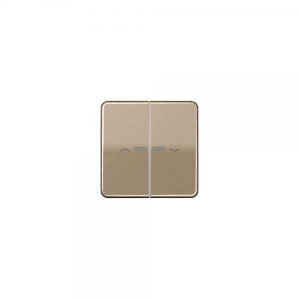 Jung CD595KO5PGB Wippe für Taster BA 2fach mit Lichtleiter und Symbol gold-bronze