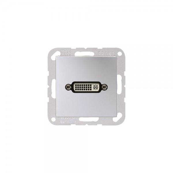 Jung MAA1193AL Multimediaanschlusssystem DVI aluminium
