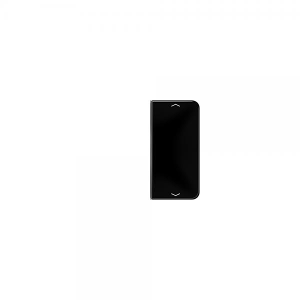 Jung CD402TSAPSW Taste 2fach mit Symbolen Auf/Ab schwarz