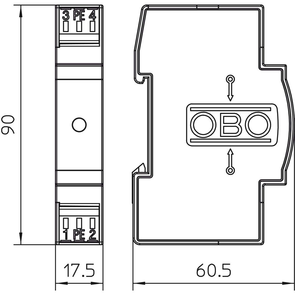 obo bettermann vf24 ac dc schutz f r 2 polige. Black Bedroom Furniture Sets. Home Design Ideas