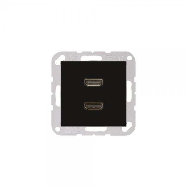 Jung MAA1133SW Multimediaanschlusssystem 2xHDMI schwarz
