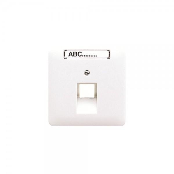 Jung CD569-1NAUAPT Abdeckung IAE/UAE-Anschlussdose mit Schriftfeld platin