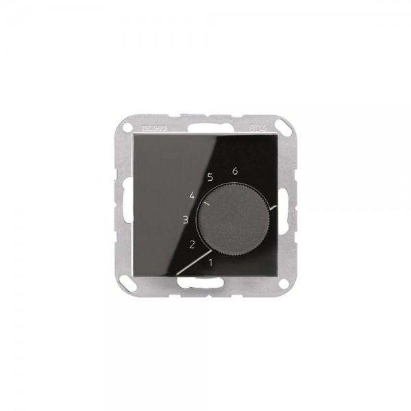 Jung TRA236SW Raumtemperaturregler mit Wechsler schwarz