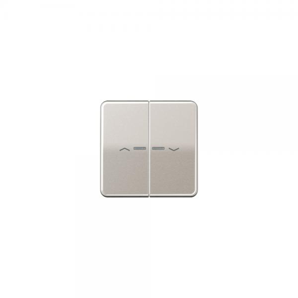 Jung CD595KO5PPT Wippe für Taster BA 2fach mit Lichtleiter und Symbol platin