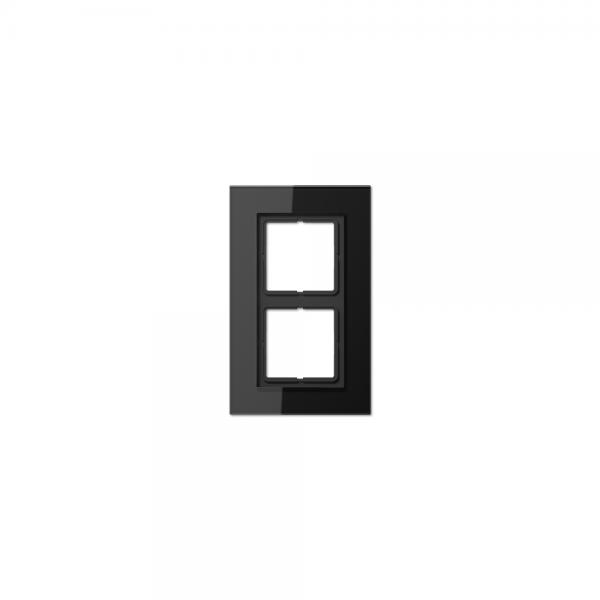 Jung LSP982GLSW Abdeckrahmen 2fach Glas schwarz