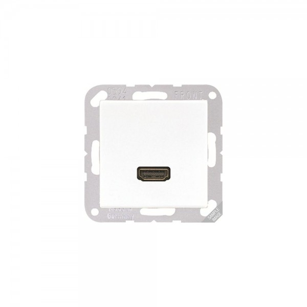 Jung MAA1112 Multimediaanschlusssystem HDMI cremeweiß