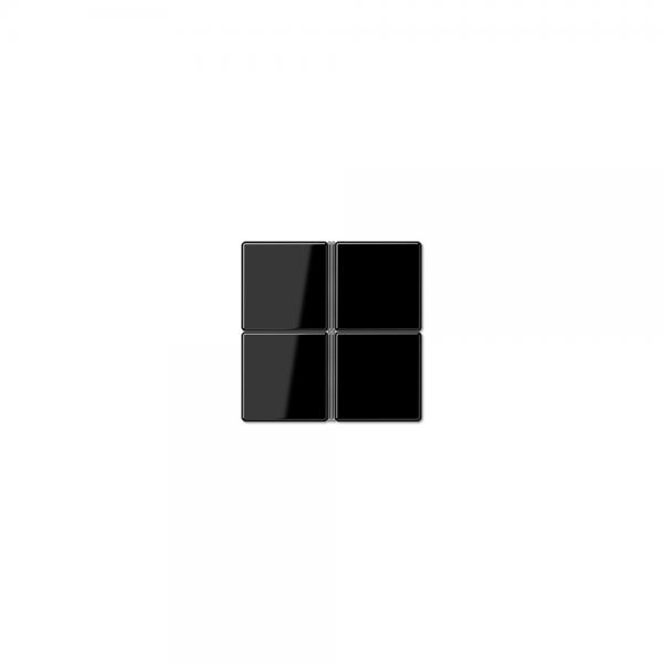 Jung A404TSASW Tastensatz 4fach komplett schwarz