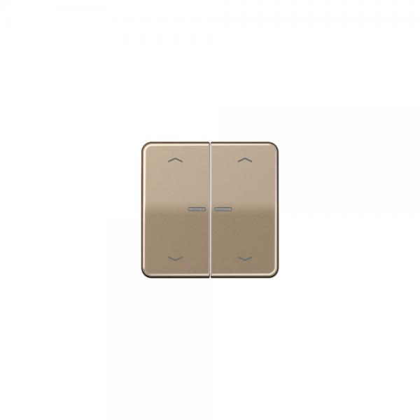 Jung CD595KO5MPGB Wippe für Taster BA 2fach mit Lichtleiter und Symbol gold-bronze