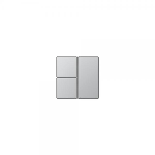 Jung A403TSAAL Tastensatz 3fach komplett aluminium