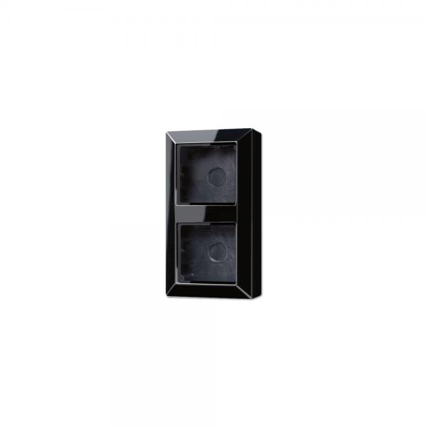 Jung AS582ASW Aufputz-Kappe 2fach schwarz