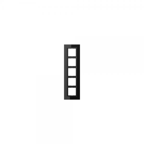 Jung LSP985GLSW Abdeckrahmen 5fach Glas schwarz