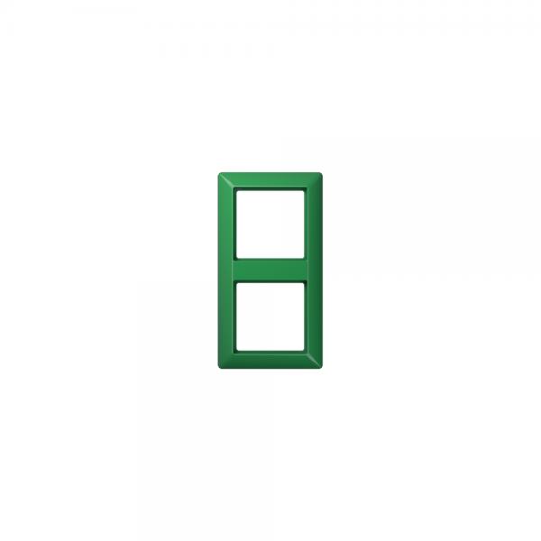 Jung AS582BFGN Abdeckrahmen 2fach bruchsicher grün hochglänzend