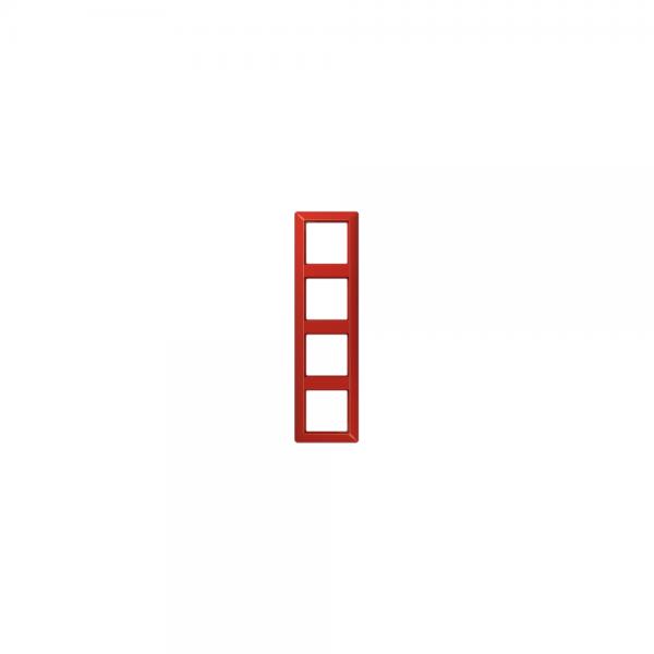 Jung AS584BFRT Abdeckrahmen 4fach bruchsicher rot hochglänzend