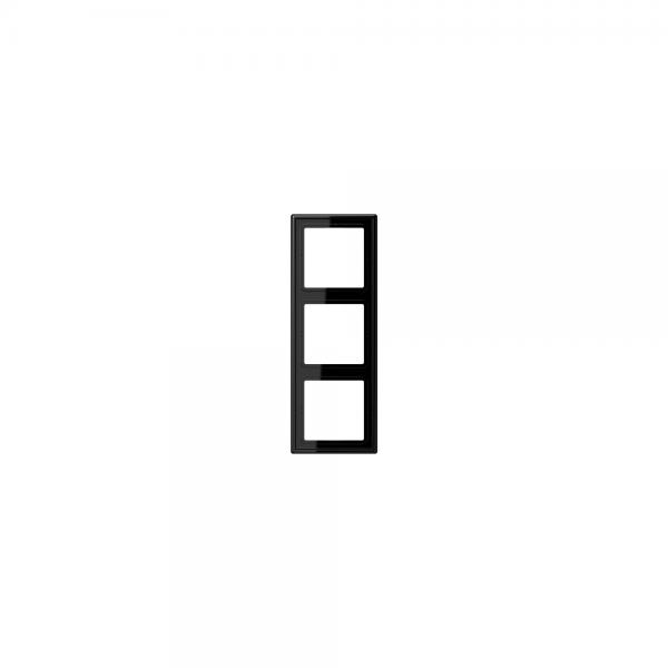 Jung LS983SW Abdeckrahmen 3fach schwarz