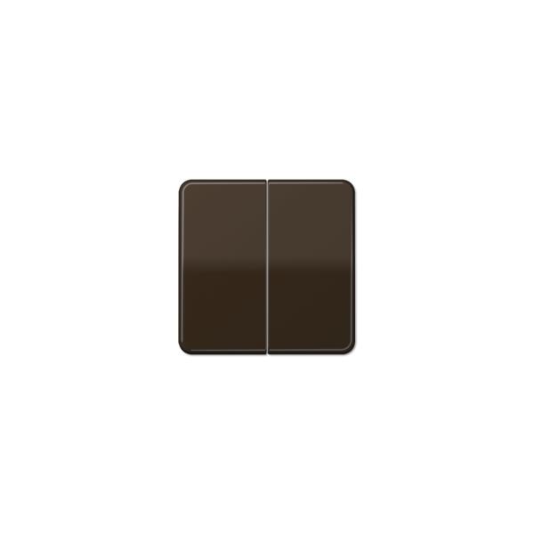 Jung CD595BFBR Wippe für Serienschalter bruchsicher braun hochglänzend