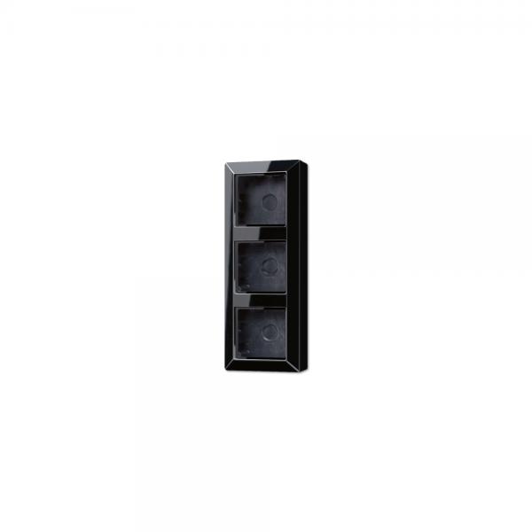 Jung AS583ASW Aufputz-Kappe 3fach schwarz