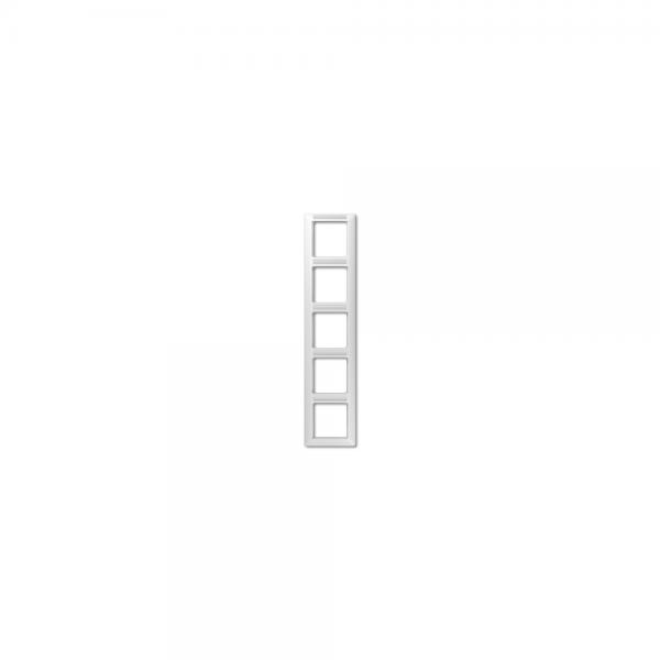 Jung AS585BFINAWW Abdeckrahmen 5fach bruchsicher alpinweiß hochglänzend