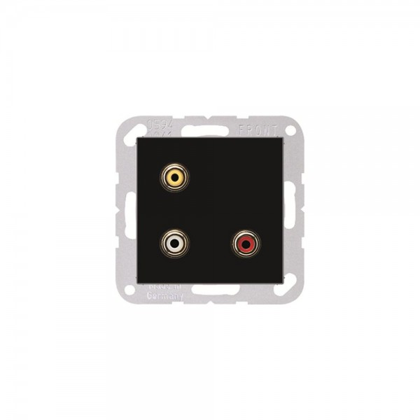 Jung MAA1031SW Multimediaanschlusssystem Cinch Audio und Composite Video schwarz