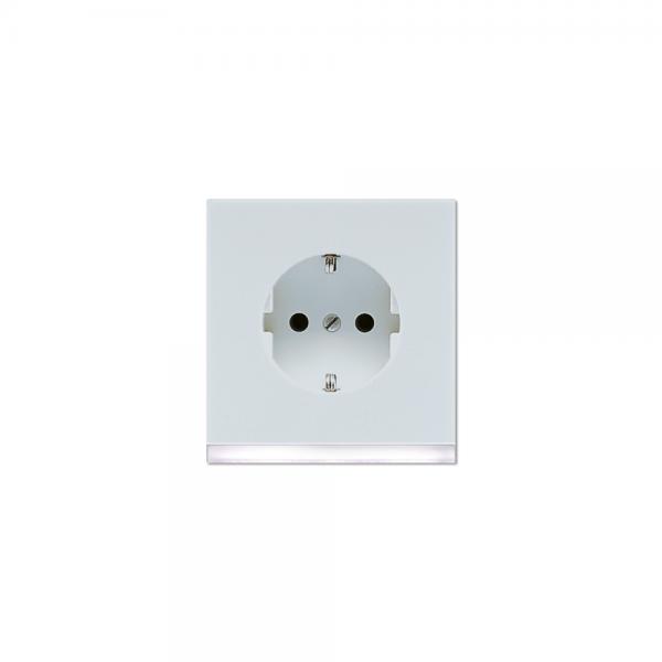 Jung LS520-OLGLEDW Steckdose mit LED Orientierungslicht LS990 lichtgrau