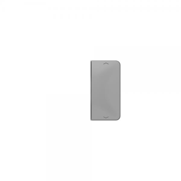Jung CD402TSAPGR Taste 2fach mit Symbolen Auf/Ab grau