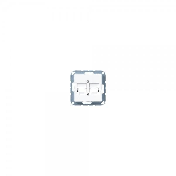 Jung A569-2NWEWW Abdeckung für Modular-Jack alpinweiss