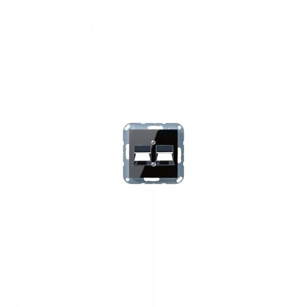 Jung A569-2NWESW Abdeckung für Modular-Jack schwarz