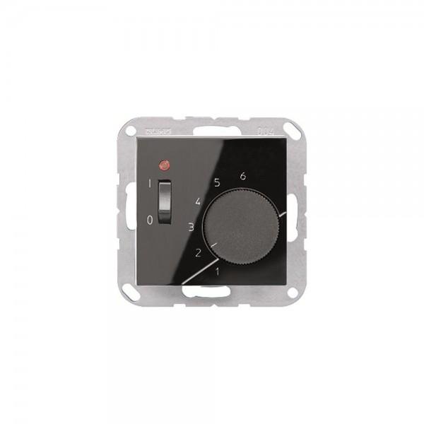 Jung TRA241SW Raumtemperaturregler mit Wechsler schwarz