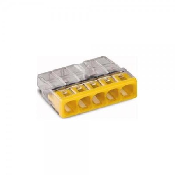 Wago 2273-205 COMPACT-Verbindungsdosenklemme 100 Stück transparent/gelb