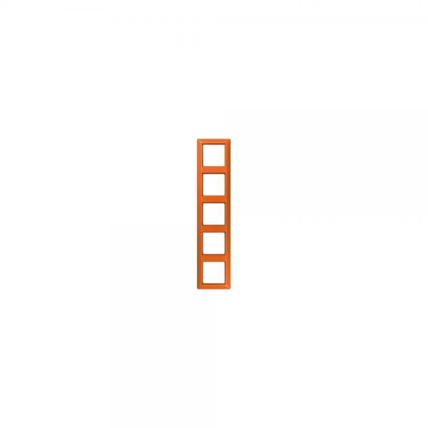 Jung AS585BFO Abdeckrahmen 5fach bruchsicher orange hochglänzend