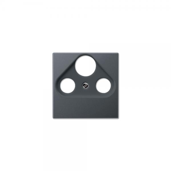 Jung A561BFPLSATANM Abdeckung Antennen-Steckdose anthrazit matt