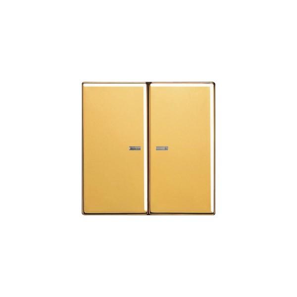 Jung GO2995KO5 Serien-Wippe mit Lichtleiter goldfarben
