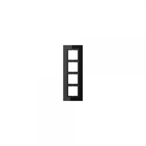 Jung LSP984GLSW Abdeckrahmen 4fach Glas schwarz