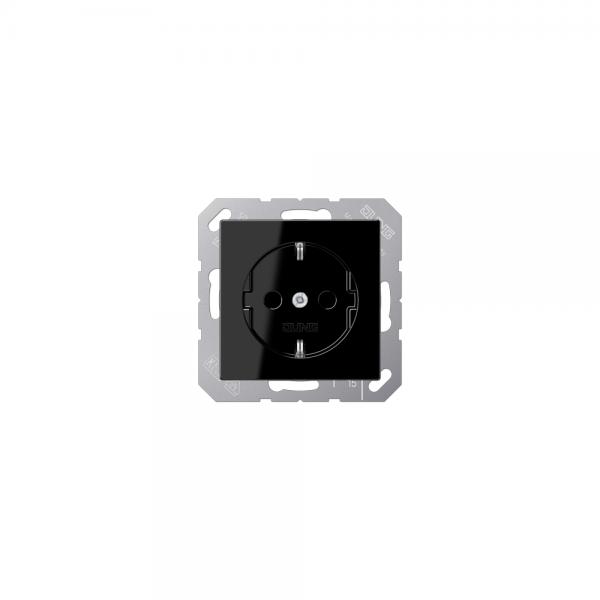 Jung A1520KISW SCHUKO-Steckdose mit KS schwarz
