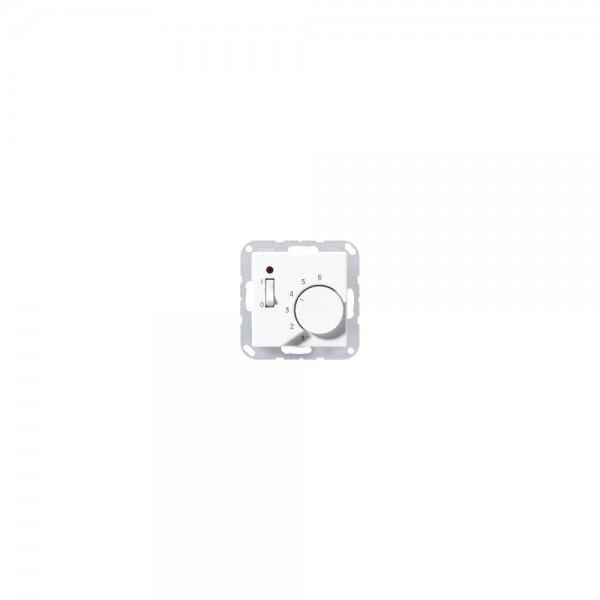 Jung TRA241AL Raumtemperaturregler mit Wechsler aluminium
