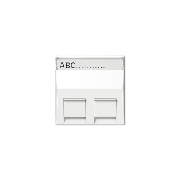 Jung A569-30BFPLSW Abdeckung mit Schriftfeld schwarz