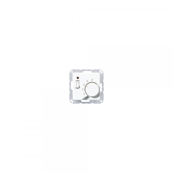 Jung TRA231AL Raumtemperaturregler mit Öffner aluminium